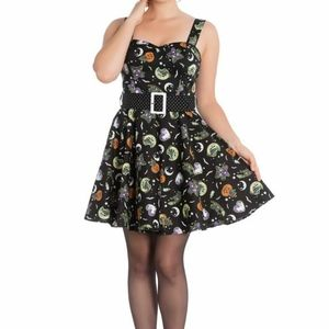 Hell Bunny Salem Mini Dress Halloween Gothic 4719